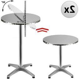 2x Table de bar pliable 2en1 alu hauteur réglable - 70cm/11