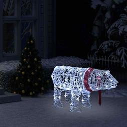 vidaXL Décoration Lumineuse de Noël Ours 45 LED Acrylique