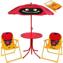 Ensemble 2 Chaises et 1 Table enfant avec parasol ajustable