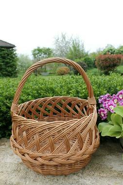 joli panier en osier - bon état - déco jardin  - cuisine