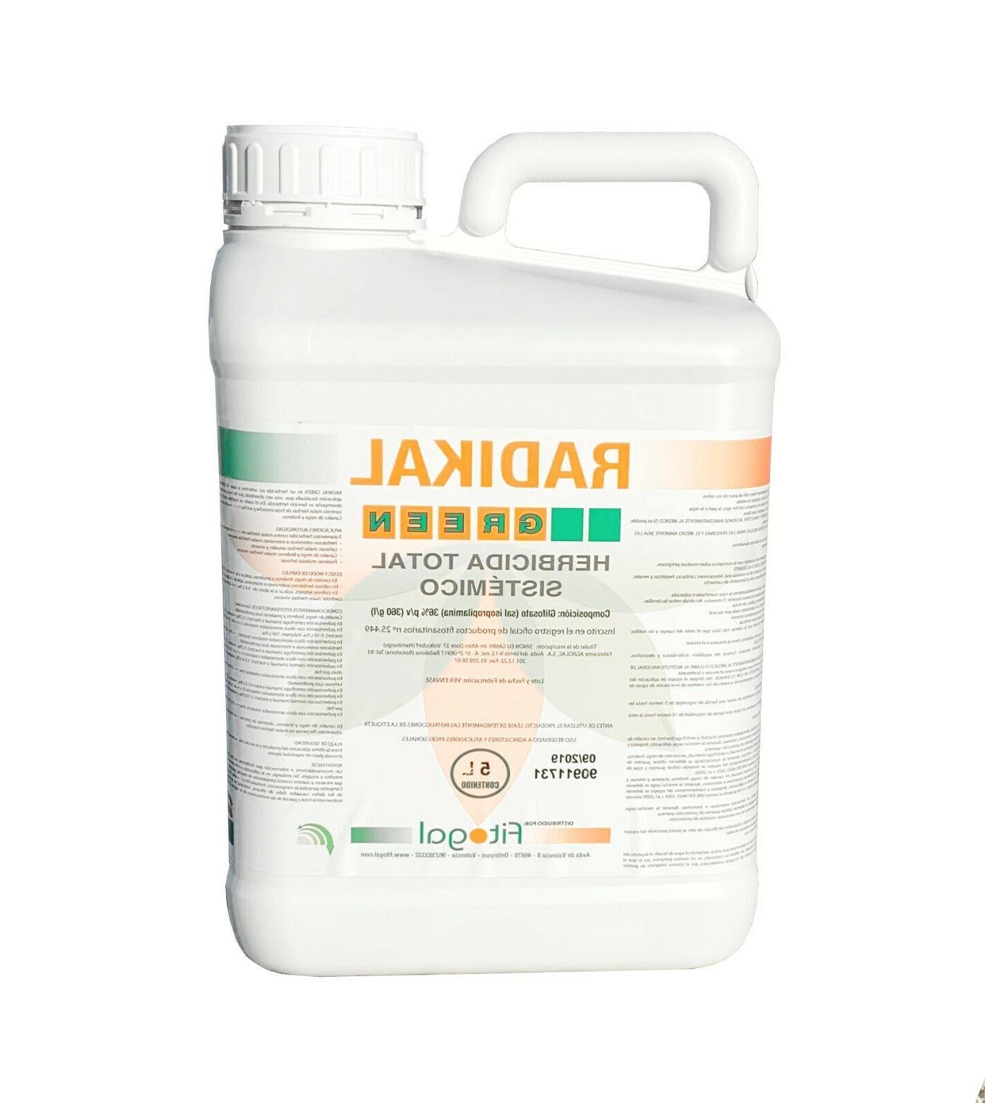 herbicide desherbant total glyphosate 5l tous jardins
