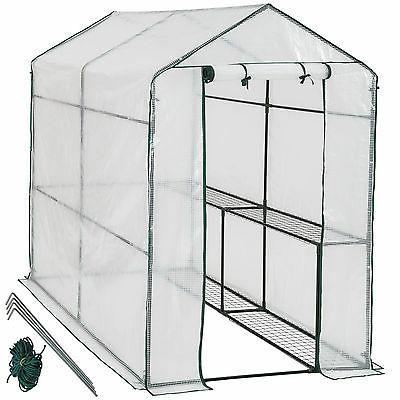 serre de jardin metal pe plastique tente
