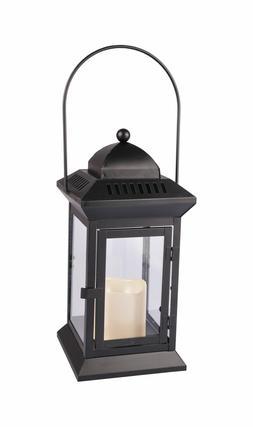 Métal - Lanterne Avec Bougie 31cm Photophore Lampe de Jardi