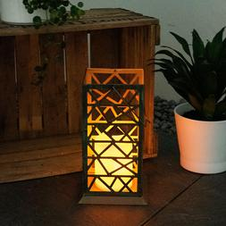 Solaire LED Extérieur sur Pied Lampe Effet Feu Bougie Cour